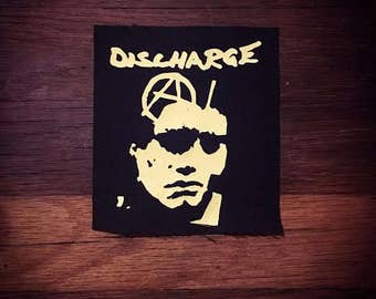 Discharge Logo Band Patch D-Beat Hardcore Punk Heavy Metal Thrash