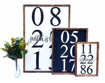 25x37 Custom Framed Date Large