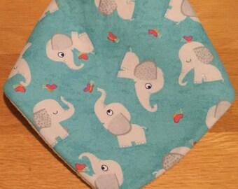 Elephant baby dribble bib