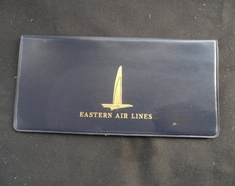 FREE SHIPPING in USA Vintage Eastern Airlines Ticket Wallet  Airlines Collectible, Eastern Collectible  1155