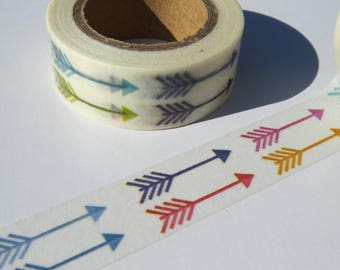 Colourful and Bright Arrows Design Washi/Masking Tape