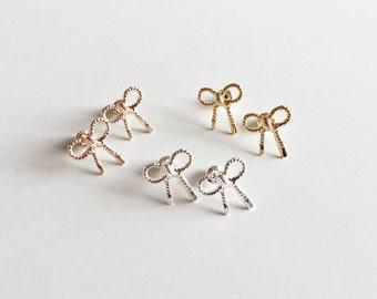 LOOP earrings rose gold, loop ear plug