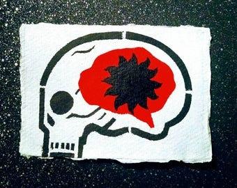 Brain black light eco postcard*