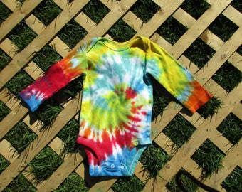 Long Sleeve Tie Dye Onesie (12M)