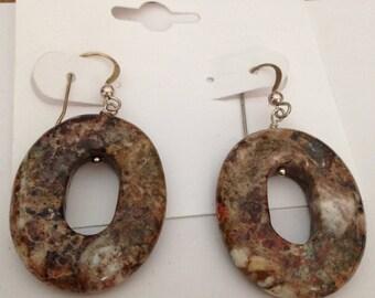 Jay King Natural Stone Hoop Earrings