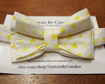 Yellow triangles Easter Bowtie