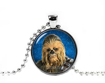 Chewbacca Necklace Wookiee Necklace Fandom Jewelry Necklace Pendant Geeky Fangirl Fanboy