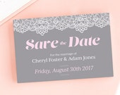 Modern Lace Save the DateWedding Announcement Cards