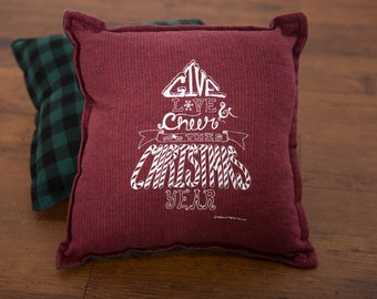 "Give Love 12"" x 12"" Flannel Pillow"