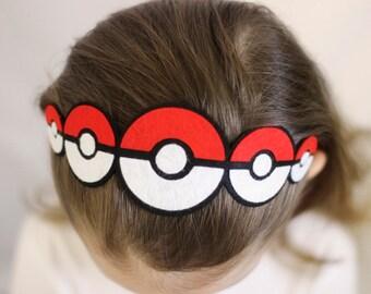 Felt Pokeball Headband