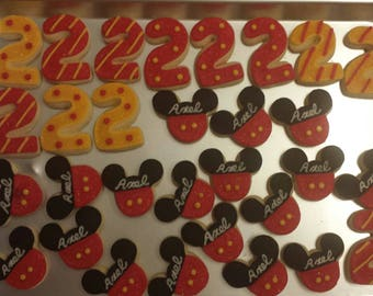 Mouse & Number Cookies - sold by the dozen