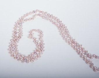 Vintage Estate Cultured Freshwater Pink Pearl Necklace