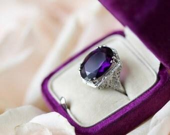 The Amethyst Art Deco Zelda Ring CL3KY0-D