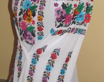 Beautiful women blouse - embroidery blouse - chiffon blouse with flowers