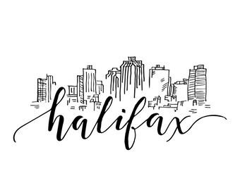 Halifax Skyline Print