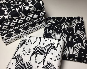 Michael Miller Black and White Origami Oasis Fabric Bundle