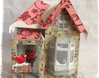 Christmas House, paper, illuminated decoration, gift items