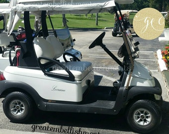 Golf Cart Decals Etsy