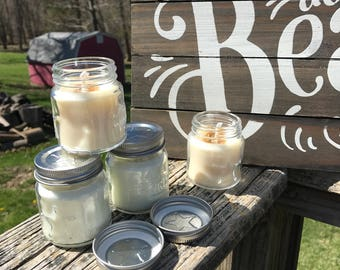 2 oz  Mason Jar Candles, Party Favor Candles 2oz Mason Jar candles. Perfect for all events, special occasions, wedding gifts.
