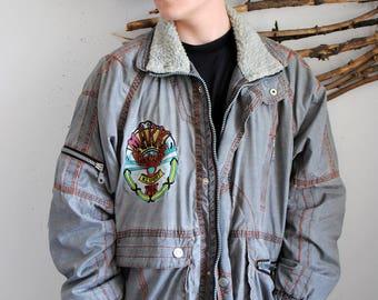 Magic Venture vintage outdoor jacket 1990s big logo autumn spring parka