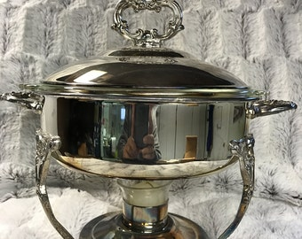 Silver plated Chafing dish 1970's with votive