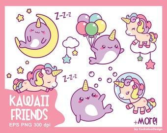 Unicorn clipart, cute unicorn clipart, kawaii unicorn clip art, narwhal clip art, unicorn clip art, kawaii clip art, clip art unicorn