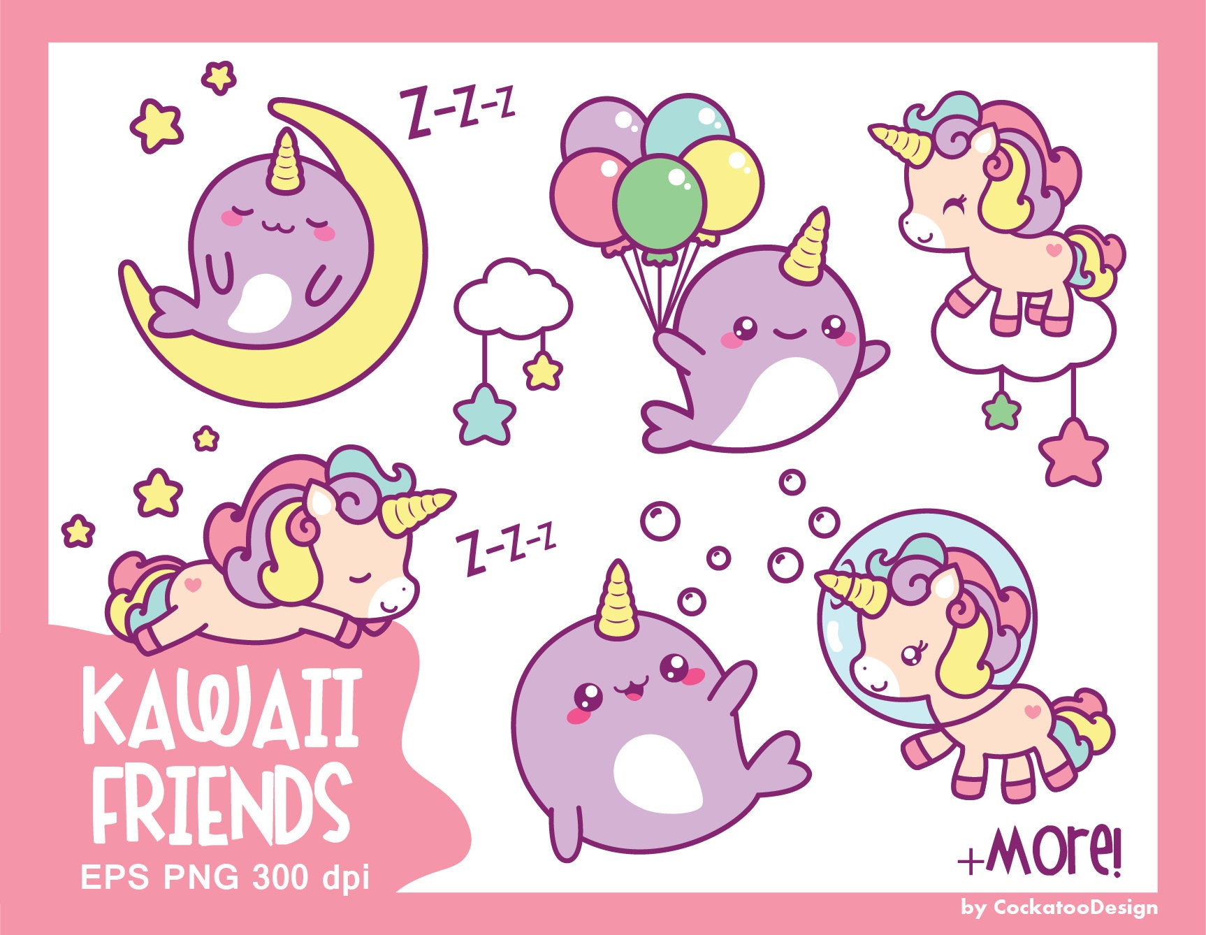 Unicorn Clipart Cute Unicorn Clipart Kawaii Unicorn Clip