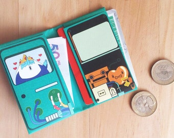 Bmo Adventure Time print mini wallet. Digital Download