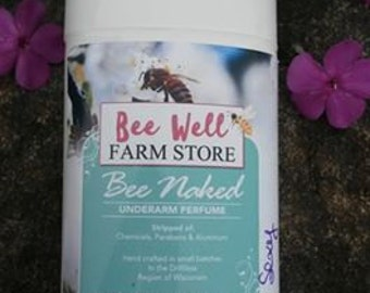 Bee Naked for Her, best of hand crafted deodorants,safe for your boobies and your brains,all natural safe and effective