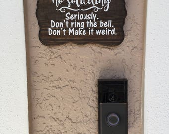 No Soliciting Sign // funny sign // home decor