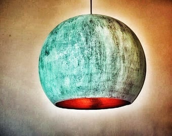 Vintage Copper Round Lampshade