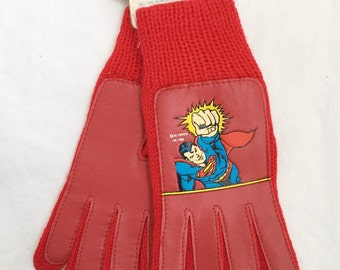 kids superman winter gloves boys OSFA