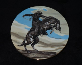 "1989 Museum Collections ""Bronco Buster"" Collector Plate by Frederic Remington"