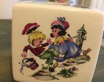 Vintage nursery rhyme pot money box
