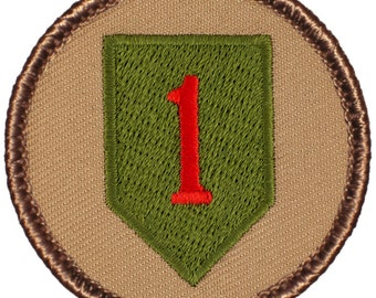1st Infantry Division Patch (553) 2 Inch Diameter Embroidered Patch