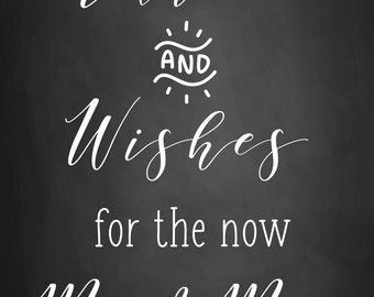 Wedding Chalkboard   Advice & Wishes Guest Book   Personalised Hand Drawn