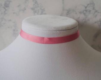 Bubblegum Pink Choker Necklace