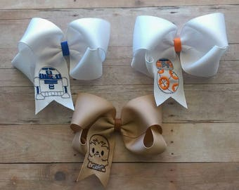 Star Wars Embroidered Twisted Boutique Bows