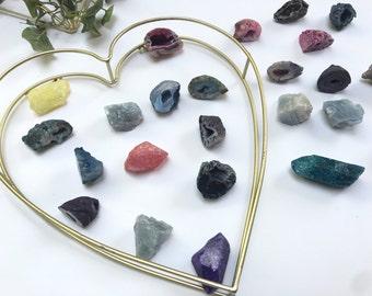 Geode Crystals - Dyed Quartz - Calcite - Healing Crystals - Druzy - Wedding Favors - Bridal Party - Gemstones - Gifts under 5