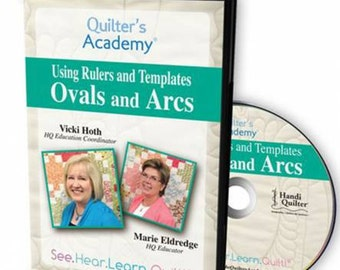 Quilters Academy using rulers and templates Ovals and Arcs dvd
