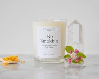 NO SMOKING scented candle