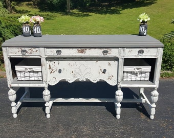 SOLD Repurposed Farmhouse style buffet table