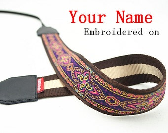 28 Custom  Camera Strap  Personalized Camera Strap etnic Embroidered DSLR Sony, Nikon, Canon Accessories Photography Gift Birthday Gift Boho
