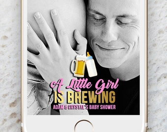 Baby Shower Snapchat Geofilter, Baby girl geofilter, A Baby is Brewing Geofilter, Baby Shower, Geofilter, Mother to Be Geofilter