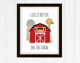 Life is Better on the Farm Printable
