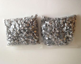 """100 Cover Buttons Size 20 (3/8"""" - 11.5mm) Fabric Covered Buttons - Wire Back"""