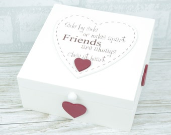 Friends Memory Box Keepsake Trinkets Jewellery Side By Side Or Miles F1142C W12