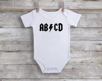 AB CD Bodysuit, Baby Boy Bodysuit, Toddler Shirt, Great Baby Shower Gift