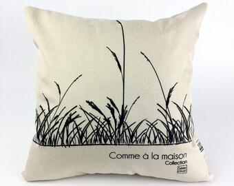 Decorative pillow / cushion nature / pattern natural wheat /coussin washable Saint Jean-sur-Richelieu/Quebec CM - 07