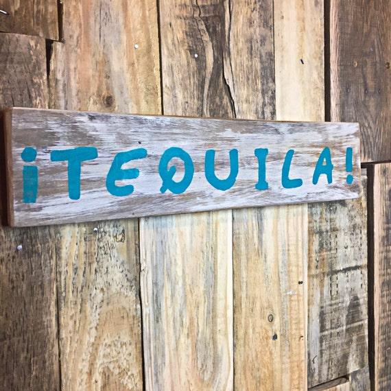 Man Cave Tiki Bar : Tequila wood man cave tiki bar sign